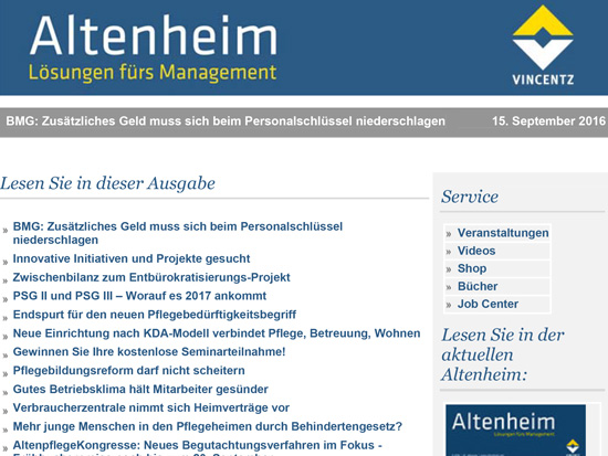 Altenheim Newsletter