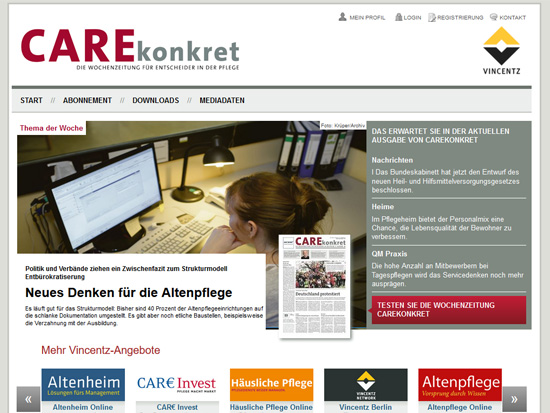 CAREkonkret Website