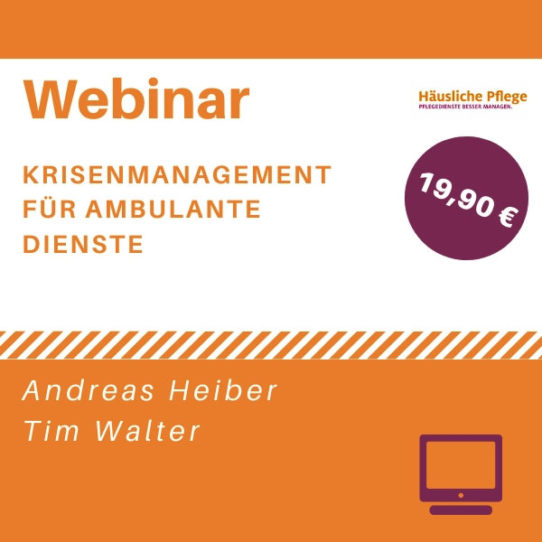 Webinar: Krisenmanagement im ambulanten Pflegedienst
